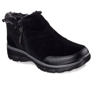 Skechers Relaxed Fit Easy Going Zip It Boots Sz 6